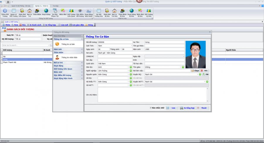 Phần mềm quản lý đối tượng 2
