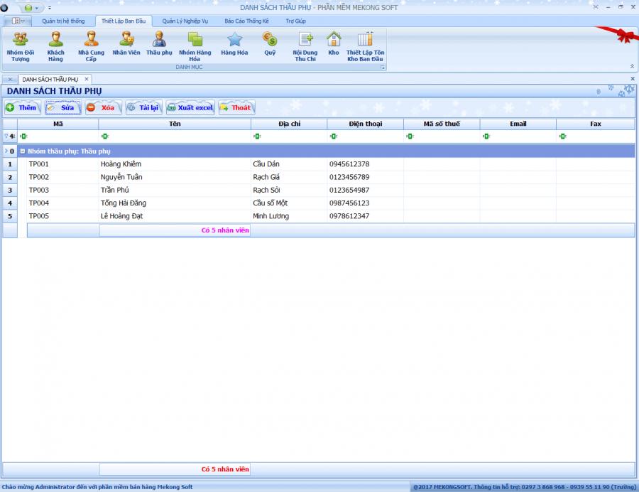 Phần mềm quản lý bán hàng vật liệu xây dựng 1