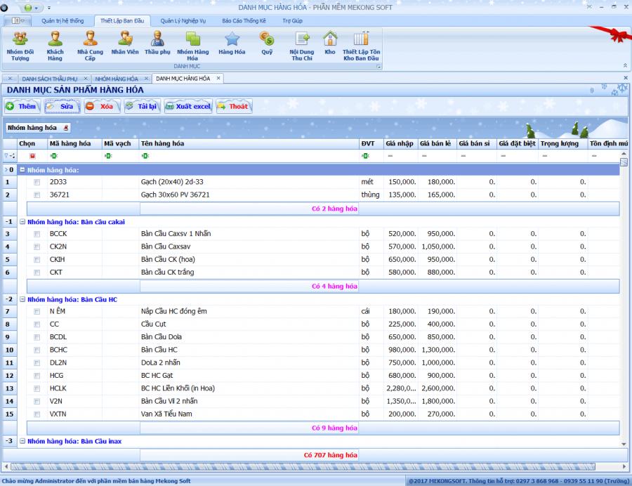 Phần mềm quản lý bán hàng vật liệu xây dựng 2