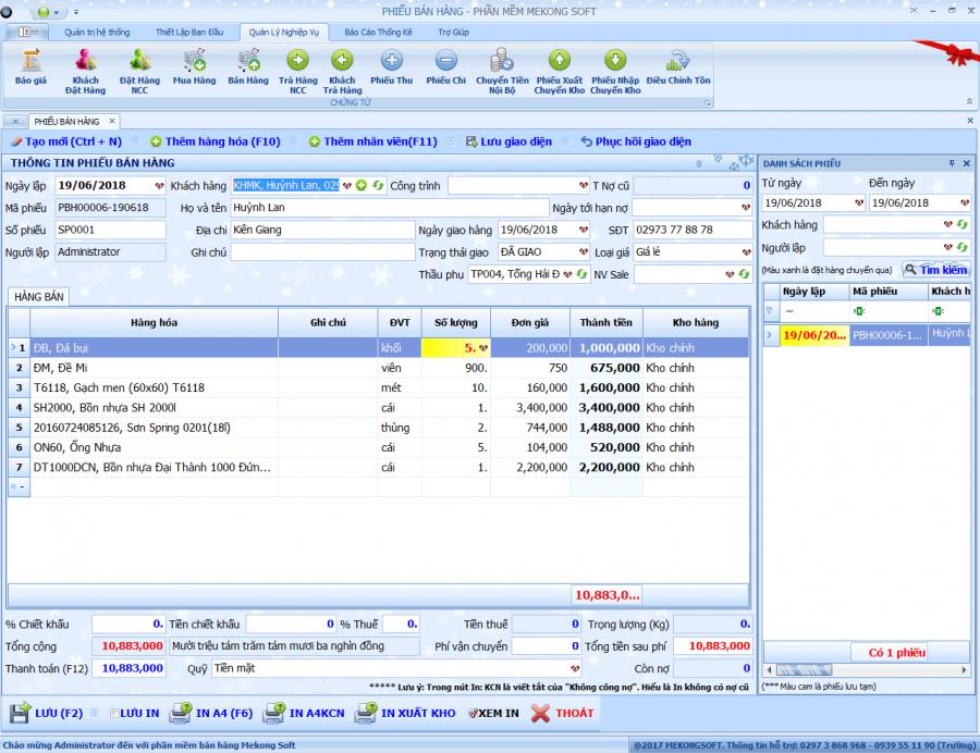 Phần mềm quản lý bán hàng vật liệu xây dựng 4