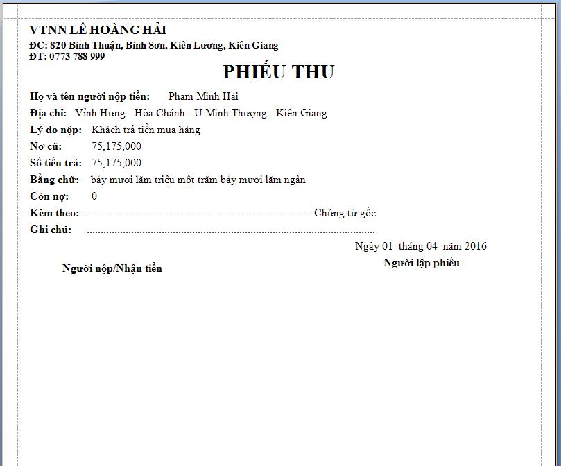 Phần mềm quản lý bán xăng dầu theo yêu cầu 11