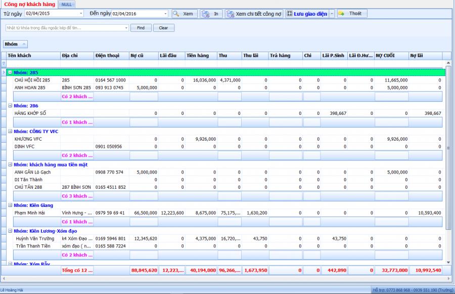 Phần mềm quản lý bán xăng dầu theo yêu cầu 14