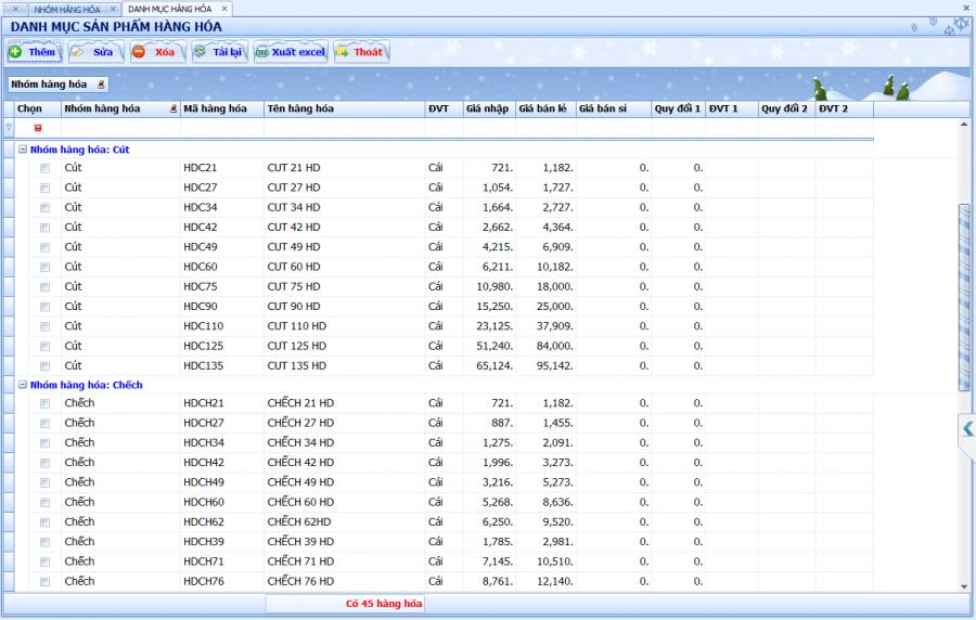 Phần mềm quản lý bán hàng vật tư, thiết bị điện nước 1