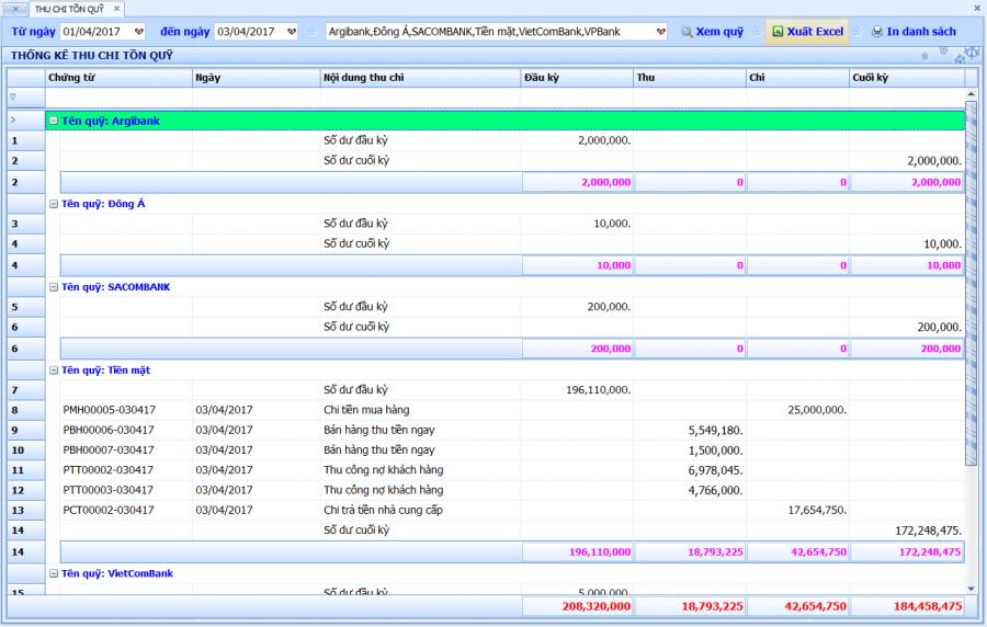 Phần mềm quản lý bán hàng vật tư, thiết bị điện nước 9