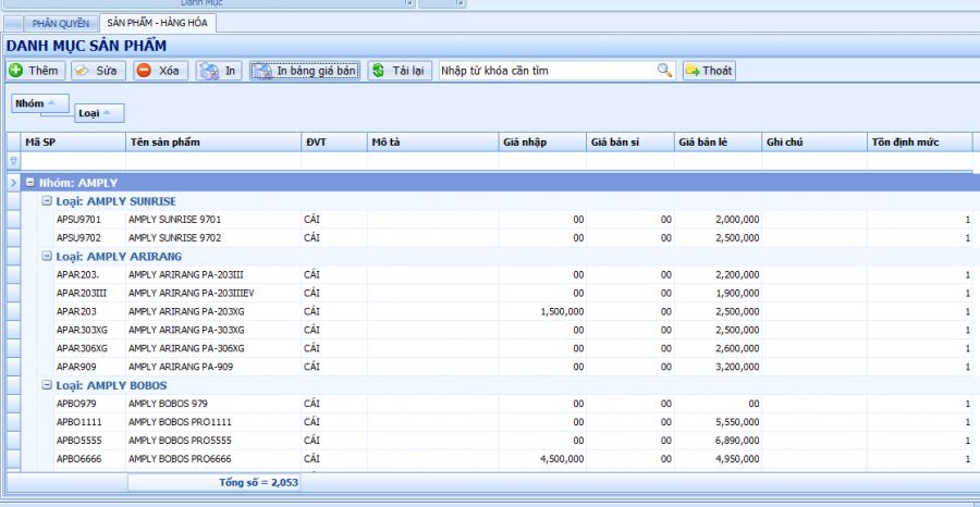 phần mềm quản lý bán hàng điện tử, điện máy 1