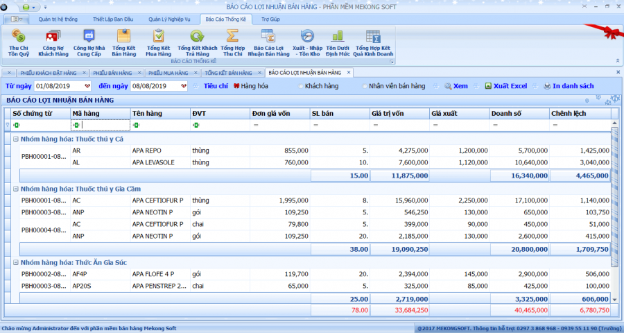 phần mềm quản lý bán thuốc thú y 8