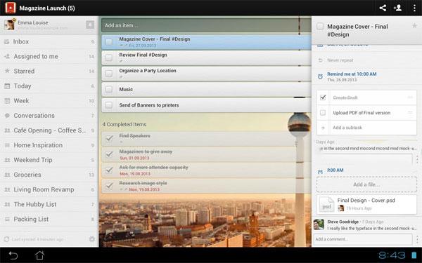 Phần mềm quản lý công việc miễn phí trên Android 1