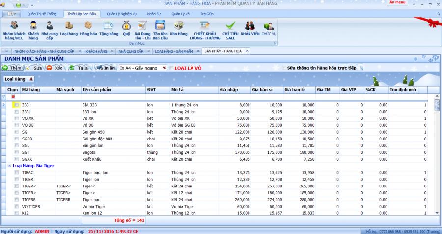 phần mềm quản lý đại lý phân phối bia, nước ngọt 5