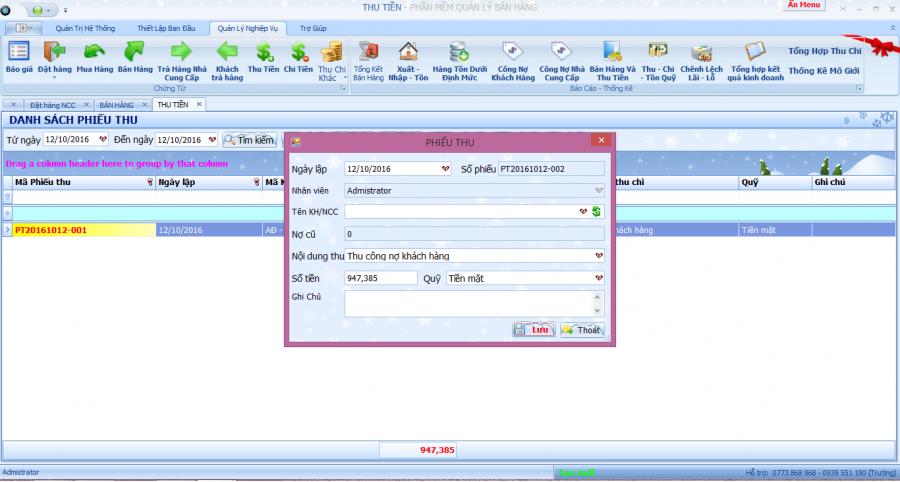 phần mềm quản lý kinh doanh, gia công kính xây dựng 11