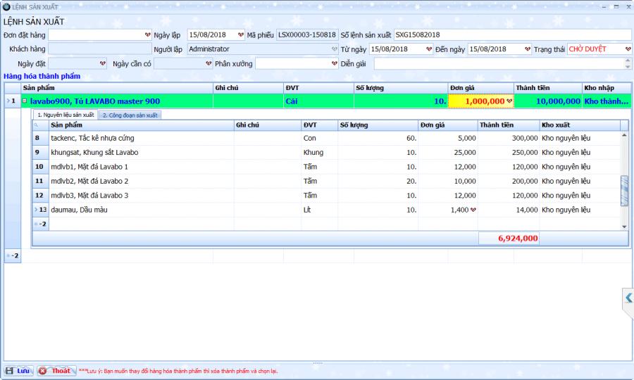 Phần mềm quản lý tổng thể doanh nghiệp sản xuất cơ khí 3