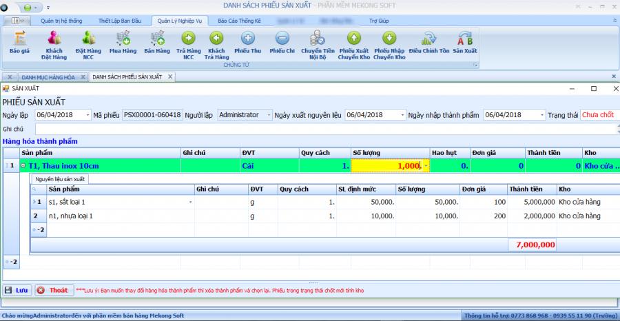 phần mềm quản lý sản xuất 1