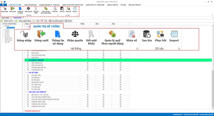 Phần mềm quản lý thi công 1
