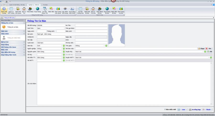 Phần mềm quản lý đối tượng 3