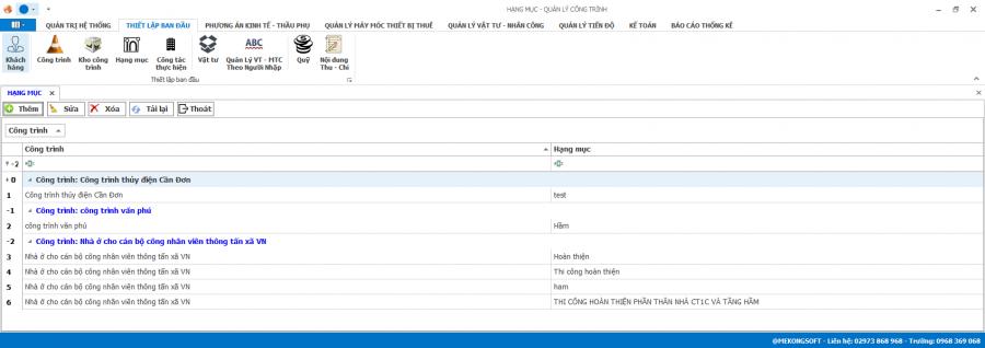 Phần mềm quản lý thi công 5