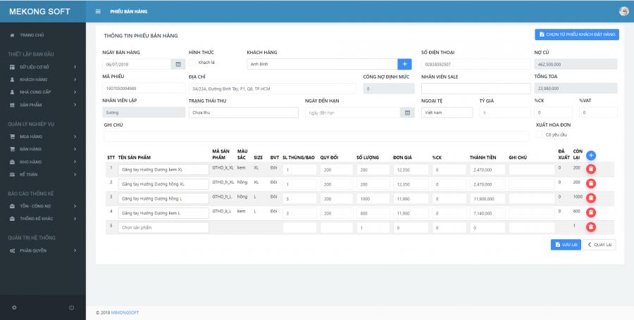 phần mềm quản lý kinh doanh chuỗi Mekong Soft 4