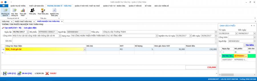 Phần mềm quản lý thi công 17