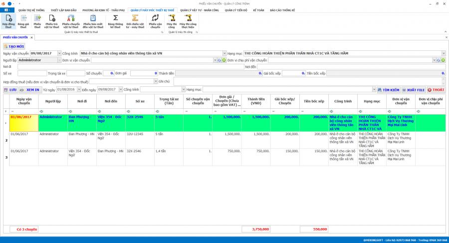 Phần mềm quản lý thi công 24