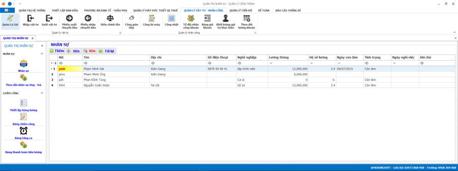 Phần mềm quản lý thi công 28