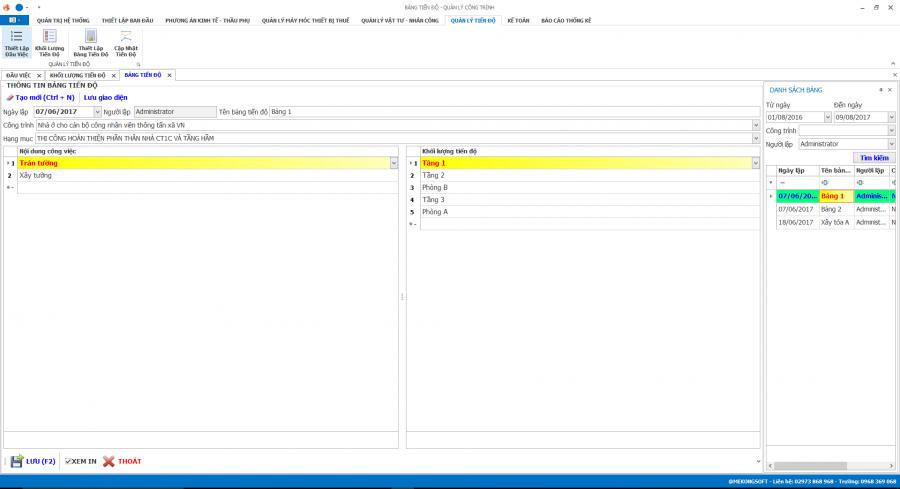 Phần mềm quản lý thi công 32