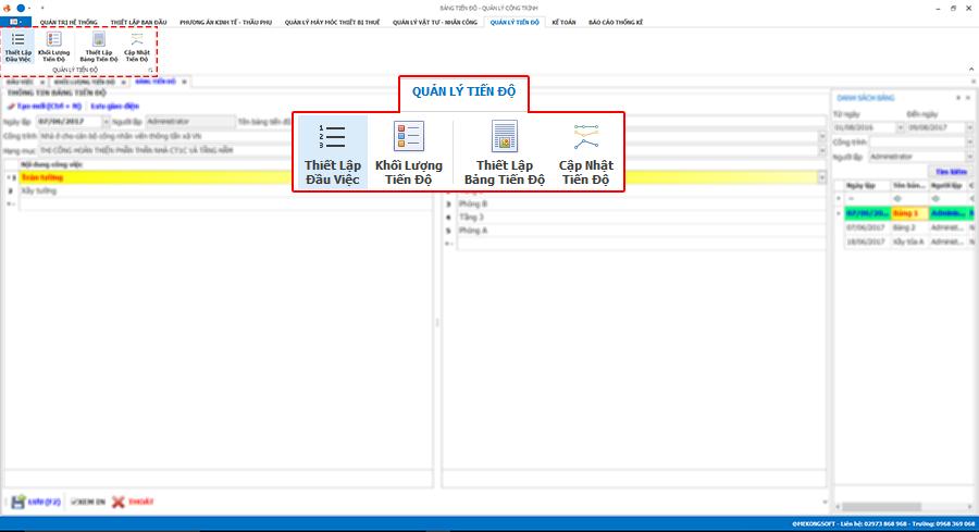 Phần mềm quản lý thi công 30