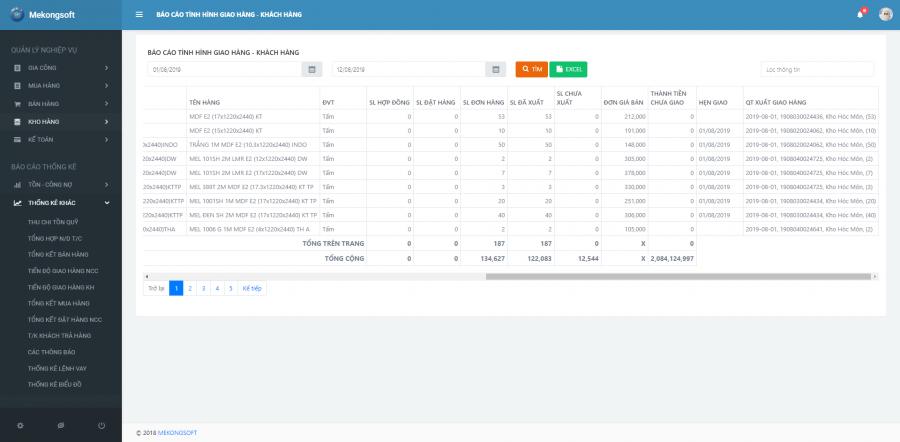 phần mềm quản lý sản xuất kinh doanh Mekong Soft 1