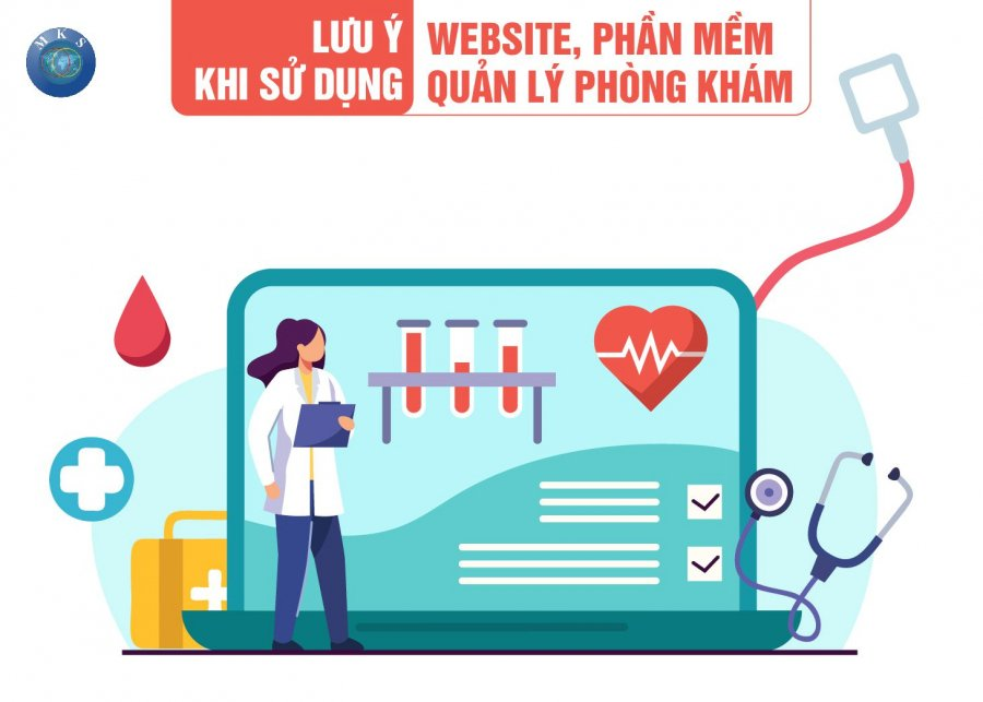 Lưu ý khi sử dụng website, phần mềm quản lý phòng khám cho các cơ sở y tế