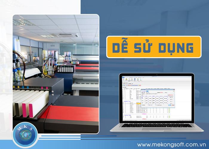 Một phần mềm quản lý in ấn hiệu quả phải có giao diện thân thiện, đơn giản