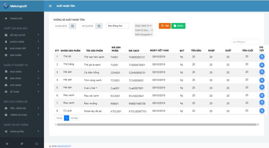 phần mềm quản lý cửa hàng thực phẩm sạch Mekong Soft 13