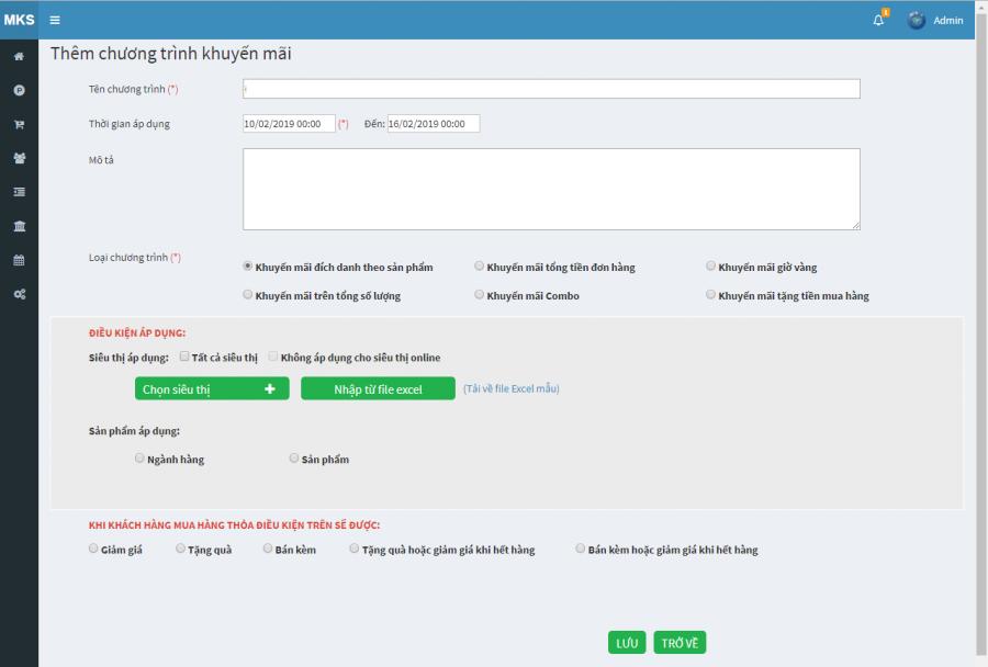 phần mềm quản lý cửa hàng thực phẩm sạch Mekong Soft 11