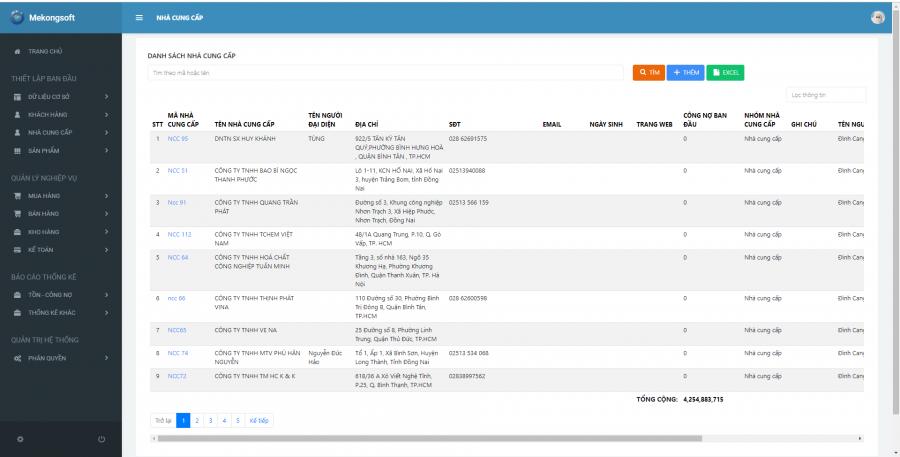 phần mềm quản lý cửa hàng thực phẩm sạch Mekong Soft 5