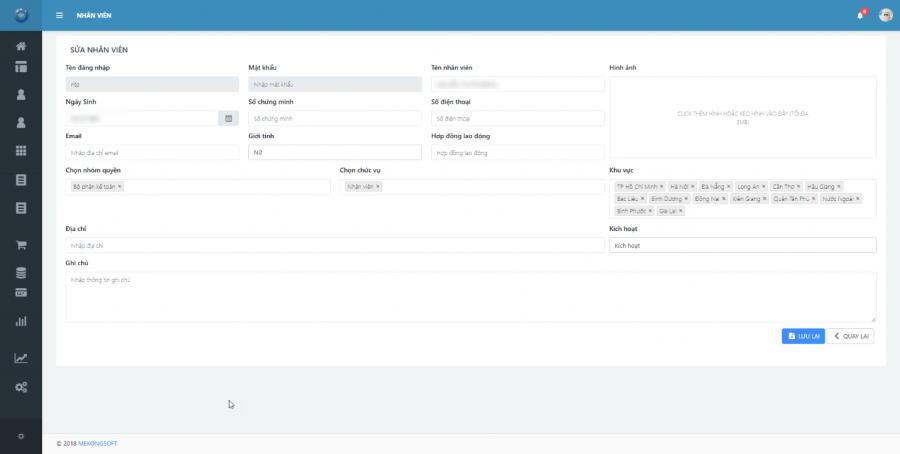 phần mềm quản lý cửa hàng thực phẩm sạch Mekong Soft 2