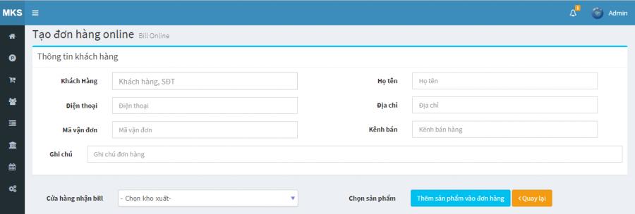phần mềm quản lý cửa hàng thực phẩm sạch Mekong Soft 9