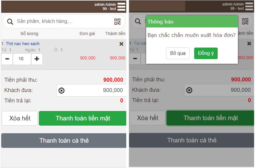 phần mềm quản lý cửa hàng thực phẩm sạch Mekong Soft 8