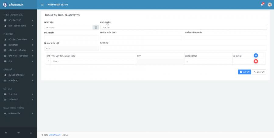 phần mềm quản lý thi công thầu xây dựng 5