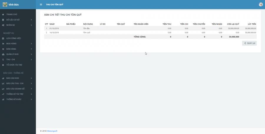 Phần mềm quản lý cho nhà cung ứng vật tư y tế Bệnh viện 7