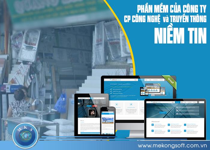 Phần mềm của công ty CP Công nghệ và Truyền thông Niềm Tin