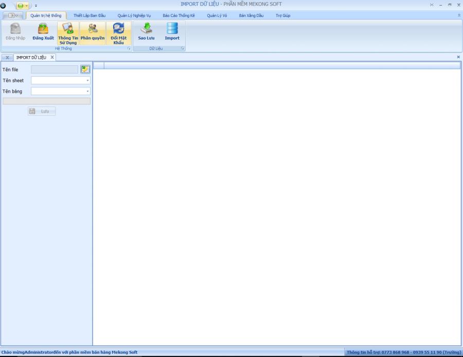 Hướng dẫn import từ file Excel vào phần mềm quản lý bán hàng Mekong Soft