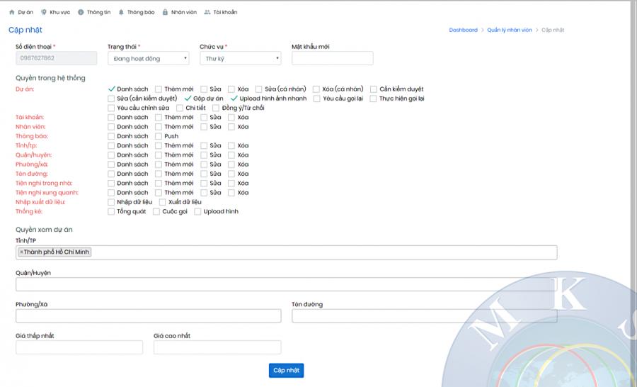 Phần mềm quản lý kinh doanh môi giới bất động sản 1