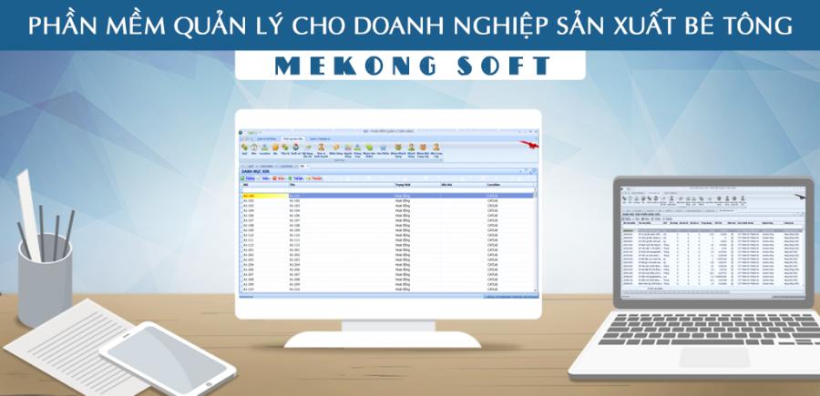 Phần mềm quản lý sản xuất bê tông Mekong Soft