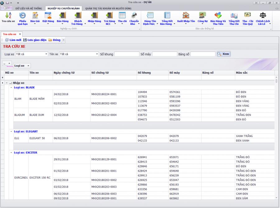 phần mềm quản lý kinh doanh xe ô tô, gắn máy trả góp 10