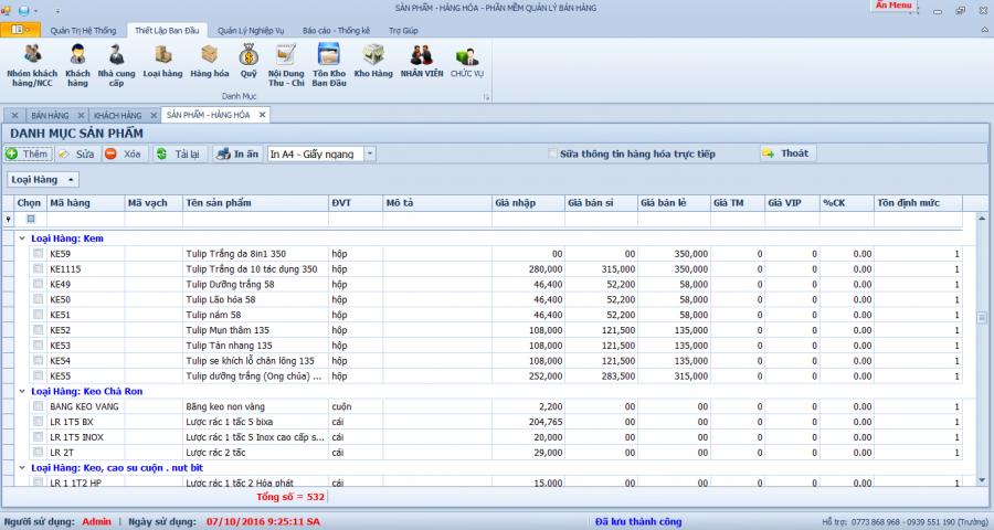 Phần mềm quản lý nhà phân phối, đại lý mỹ phẩm 1