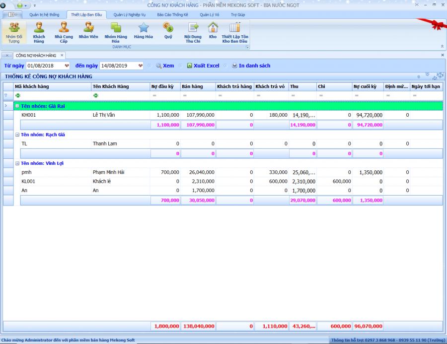 Phần mềm quản lý đại lý, phân phối bia, nước ngọt 8