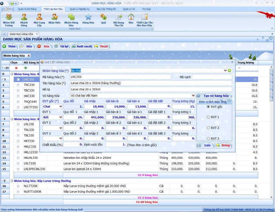 Phần mềm quản lý đại lý, phân phối bia, nước ngọt 1