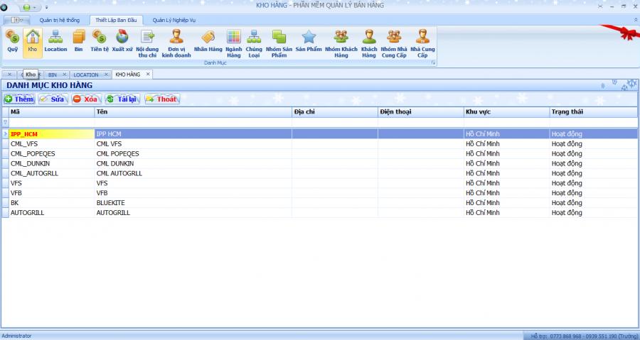Phần mềm quản lý kho hàng theo yêu cầu 1
