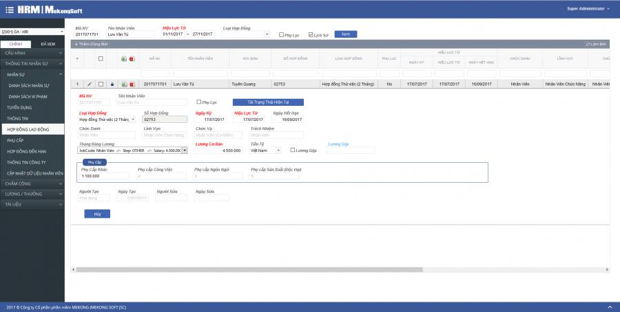 phần mềm quản lý nhân sự, tiền lương 9