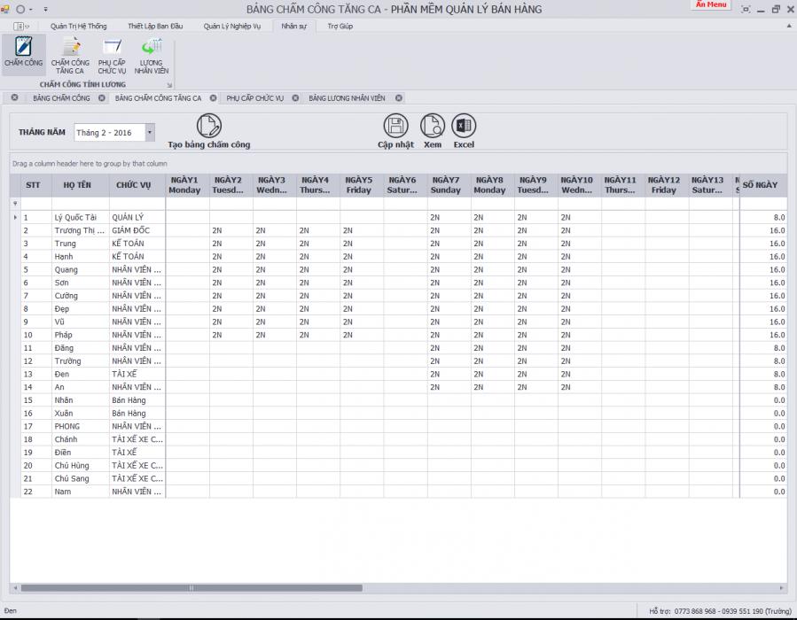 phần mềm quản lý nhân sự, tiền lương 2