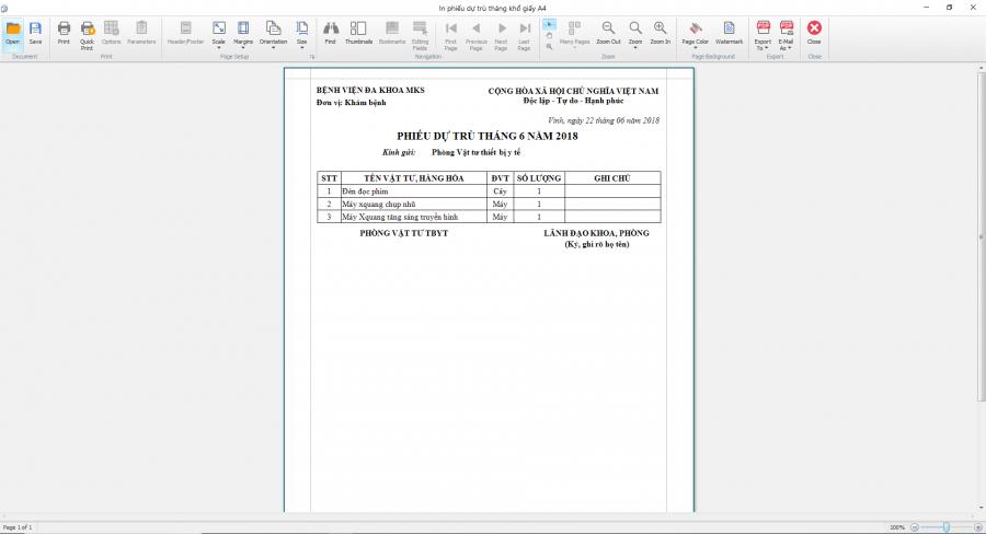 Phần mềm quản lý phòng vật tư thiết bị y tế bệnh viện 12