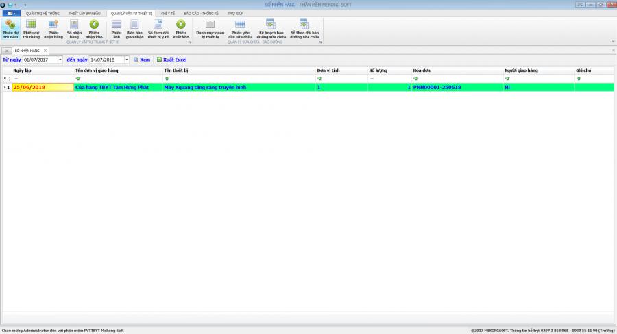 Phần mềm quản lý phòng vật tư thiết bị y tế bệnh viện 15