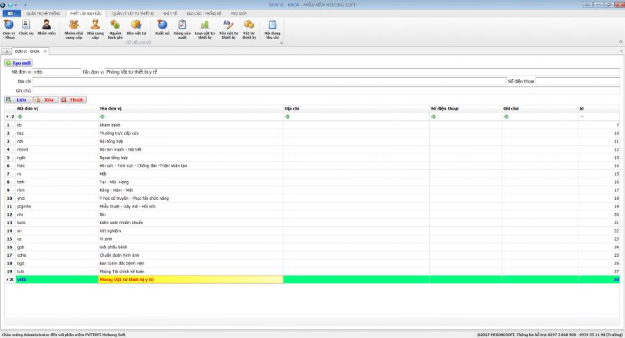 Phần mềm quản lý phòng vật tư thiết bị y tế bệnh viện 2