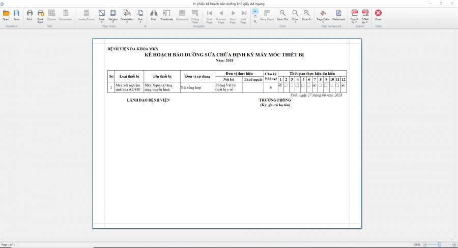 Phần mềm quản lý phòng vật tư thiết bị y tế bệnh viện 19